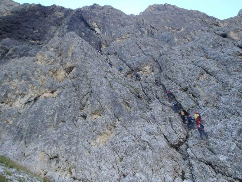 Klettersteig Plattkofel : Pößnecker klettersteig gröden dolomiten südtirol