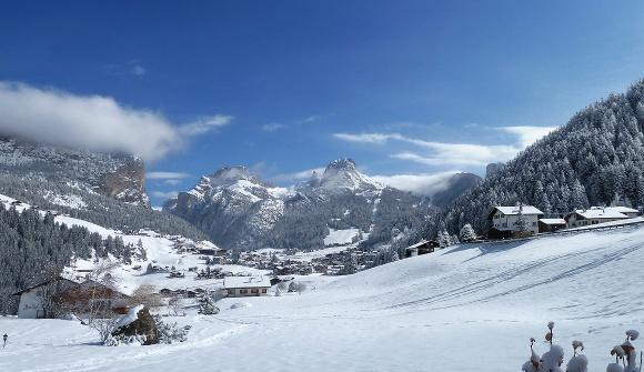 Wolkenstein Winter Selva inverno