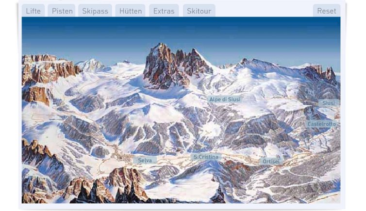 Interactive maps of the Val Gardena ski areas Val Gardena